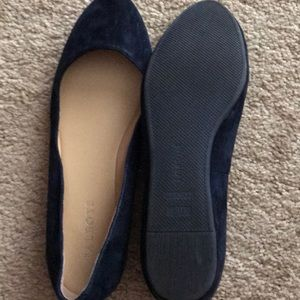 New Talbots blue suede shoes.